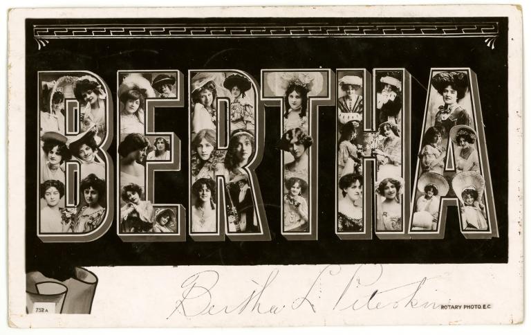 'Bertha' 1906. British Rotary Photograpic Co., active in London 1897-1916.